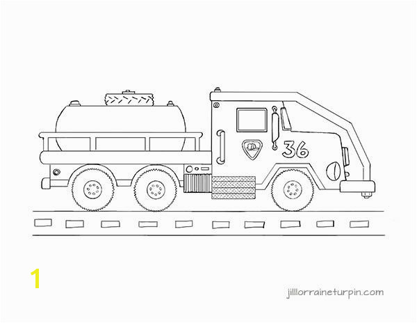 Free printable tanker fire truck coloring page at