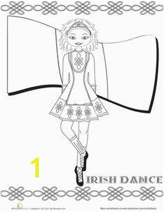 Irish Dance Coloring Page