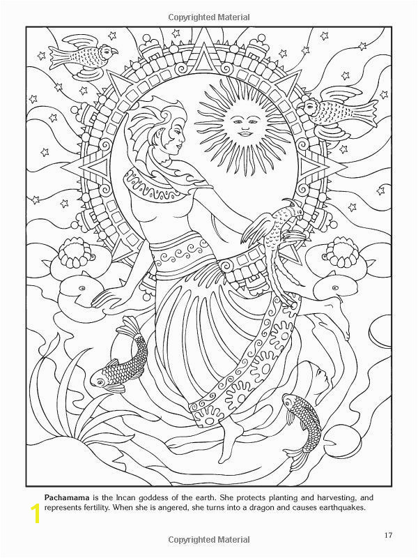 18awesome Dover Coloring Books Clip Arts & Coloring Pages Goddess Coloring Pages