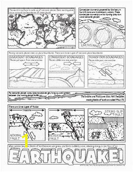 earthquakes and plate boundaries Rock Cycle Plate Tectonics Earth Science Coloring Pages