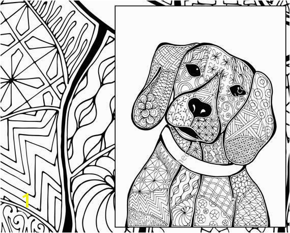 Beagle Coloring Pages Fresh Zentangle Dog Colouring Page Animal Colouring Zentangle Coloring Beagle Coloring Pages