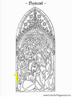Feast of Pentecost Catholic coloring page The Holy Spirit descends on the 12 Apostles