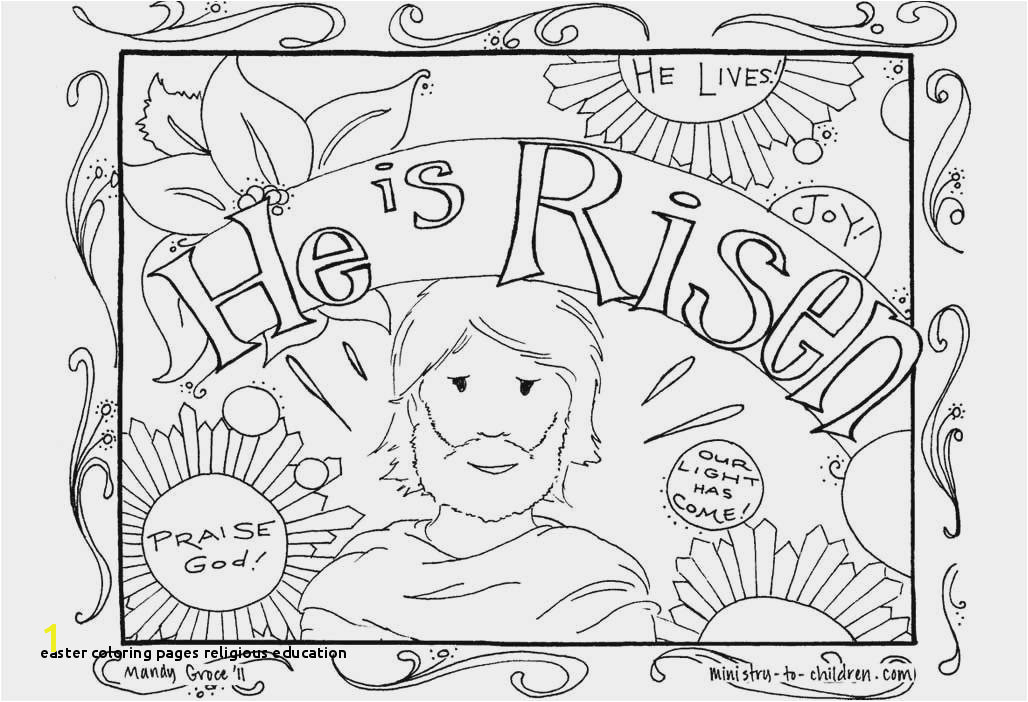20 Easter Coloring Pages Religious Education