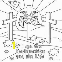I am the Resurrection Religious Easter Coloring Pages