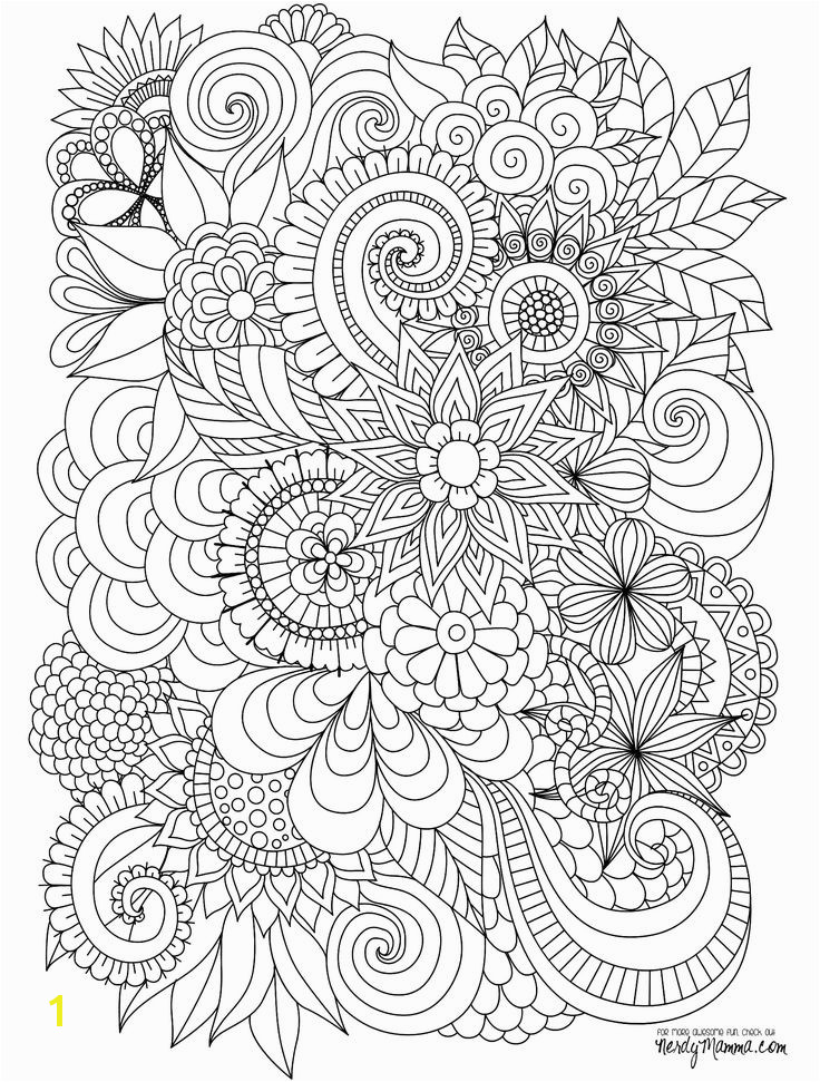 Flowers Abstract Coloring pages colouring adult detailed advanced printable Kleuren voor volwassenen colo…