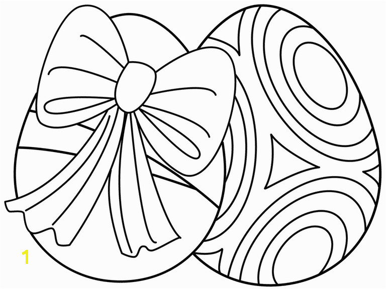 Screenshot of two Easter egg coloring pages from HelloKids