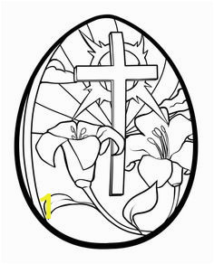 Print out cross easter egg coloring page Printable Coloring Pages For Kids