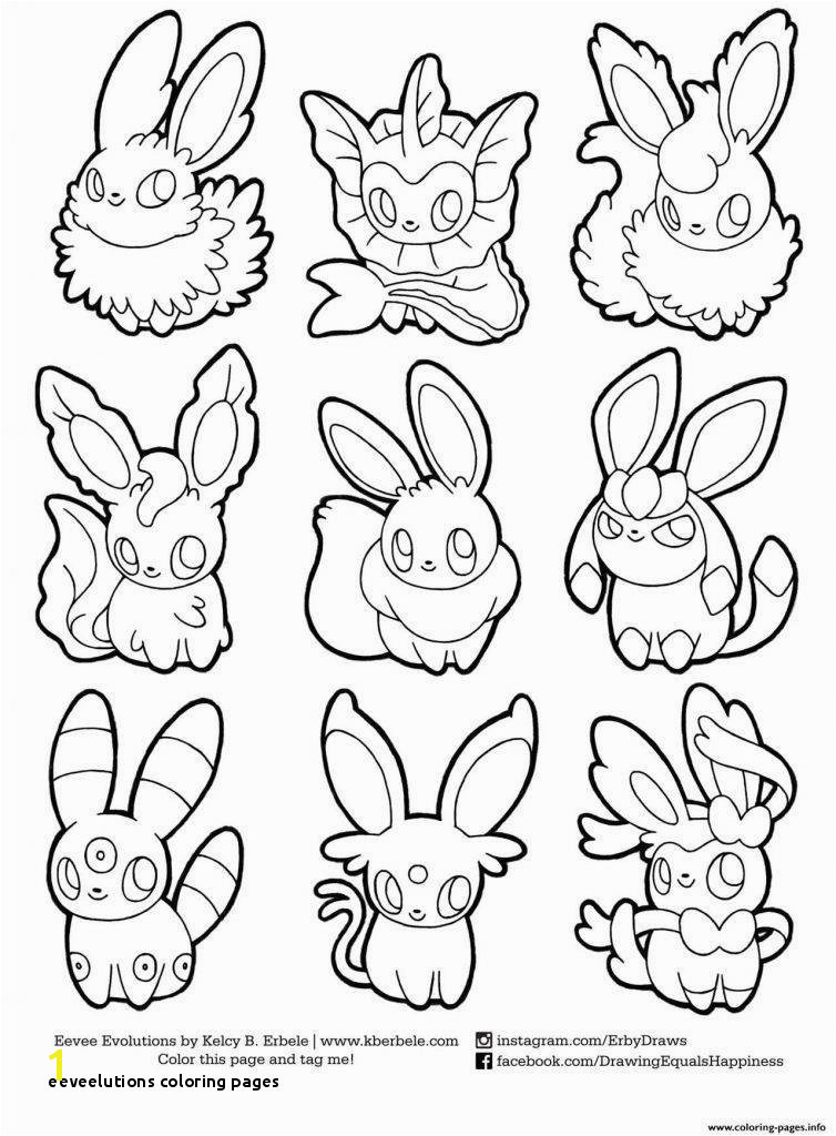 21 Elegant Eeveelutions Coloring Pages Concept