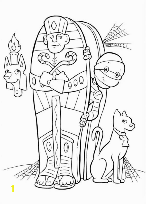 Egyptian Mummy and His Unique Egyptian Mummy Coloring Pages Egyptian Mummy Coloring Pages