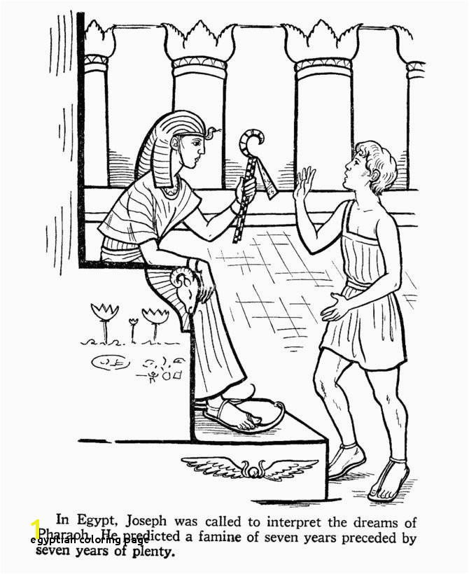 Egyptian Coloring Page 14 Elegant Egyptian Coloring Pages
