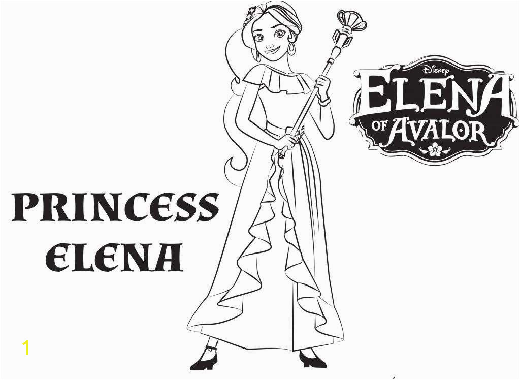 Princess Elena Coloring Page Inspirational Coloring Princess Pages Printable New Princess Elena Coloring Page Princess