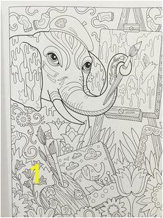Amazon The Art of Marjorie Sarnat Elegant Elephants Adult Coloring book Marjorie Sarnat Books