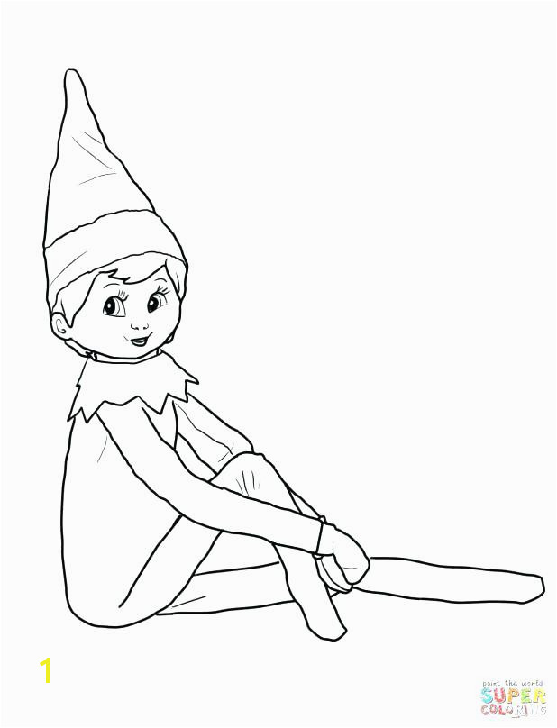 Elf On A Shelf Coloring Pages Free Female Elf Coloring Pages