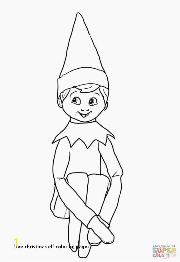 Elf Coloring Pages Printable New Free Christmas Elf Coloring Pages Christmas Elf Coloring Pages Elf