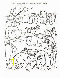 Elijah Bible Story Coloring Pages 69 Best Elijah Elisha & Raven Images In 2018