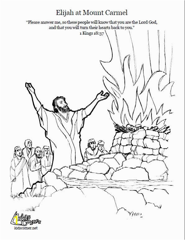 Elijah Coloring Pages Lovely Elijah Mount Carmel Coloring Page Script and Bible Story Ideas Elijah