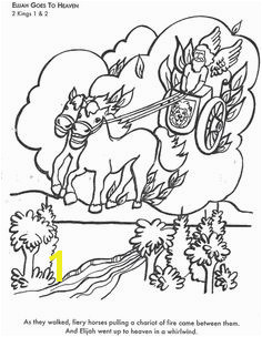Learn Bible stories with Elijah Goes to Heaven Bible coloring page Preschool Coloring Pages Bible