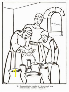 Miracle of the Widow s Oil Bible Story Coloring Page Sunday School Coloring Pages Bible