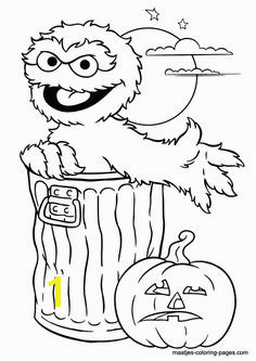 Oscar the Grouch Halloween coloring page Elmo Coloring Pages Coloring Pages For Kids