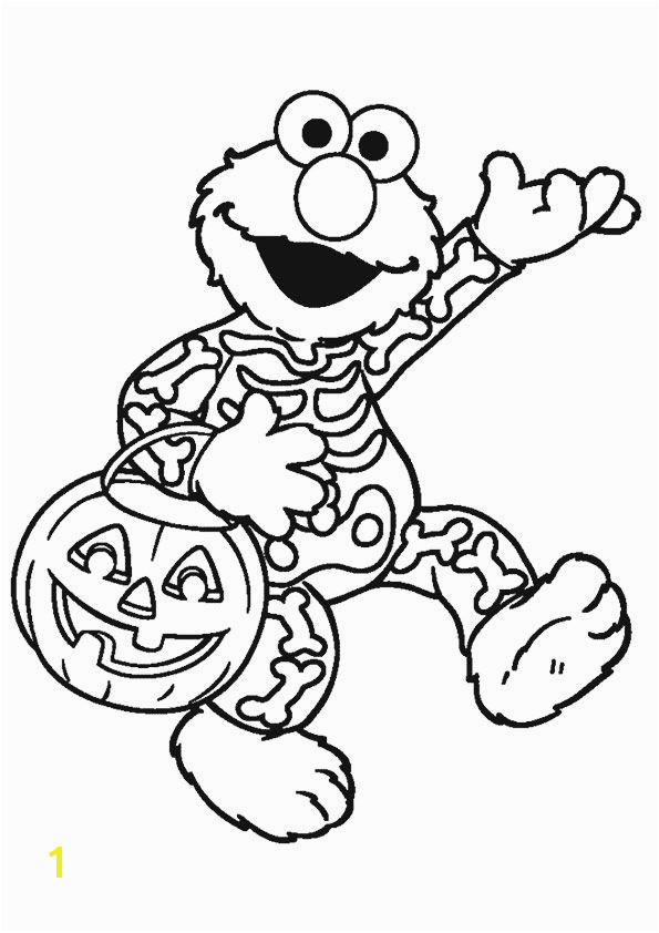 Elmo Halloween Coloring Pages Print Print Coloring Image Coloring for Kid。 Pinterest