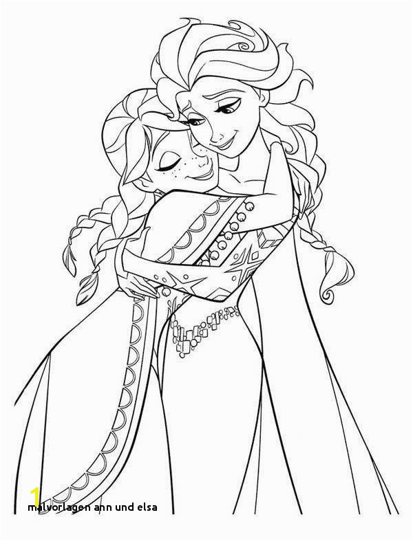 Anna Hugging Elsa the Snow Queen Coloring Page Coloring Page Frozen