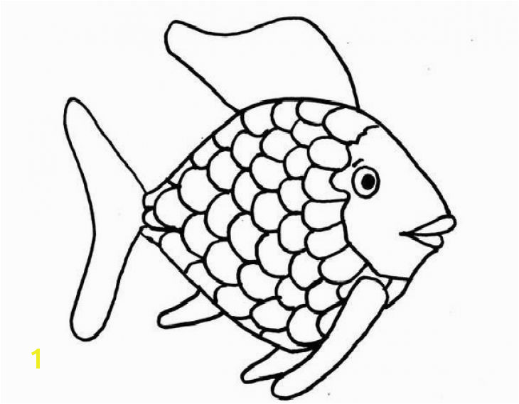 Kids Printable Rainbow Fish Coloring Page Free