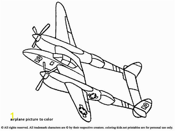 Airplane Picture to Color Planes Coloring Pages Plane Coloring Pages Elegant Page Coloring 0d