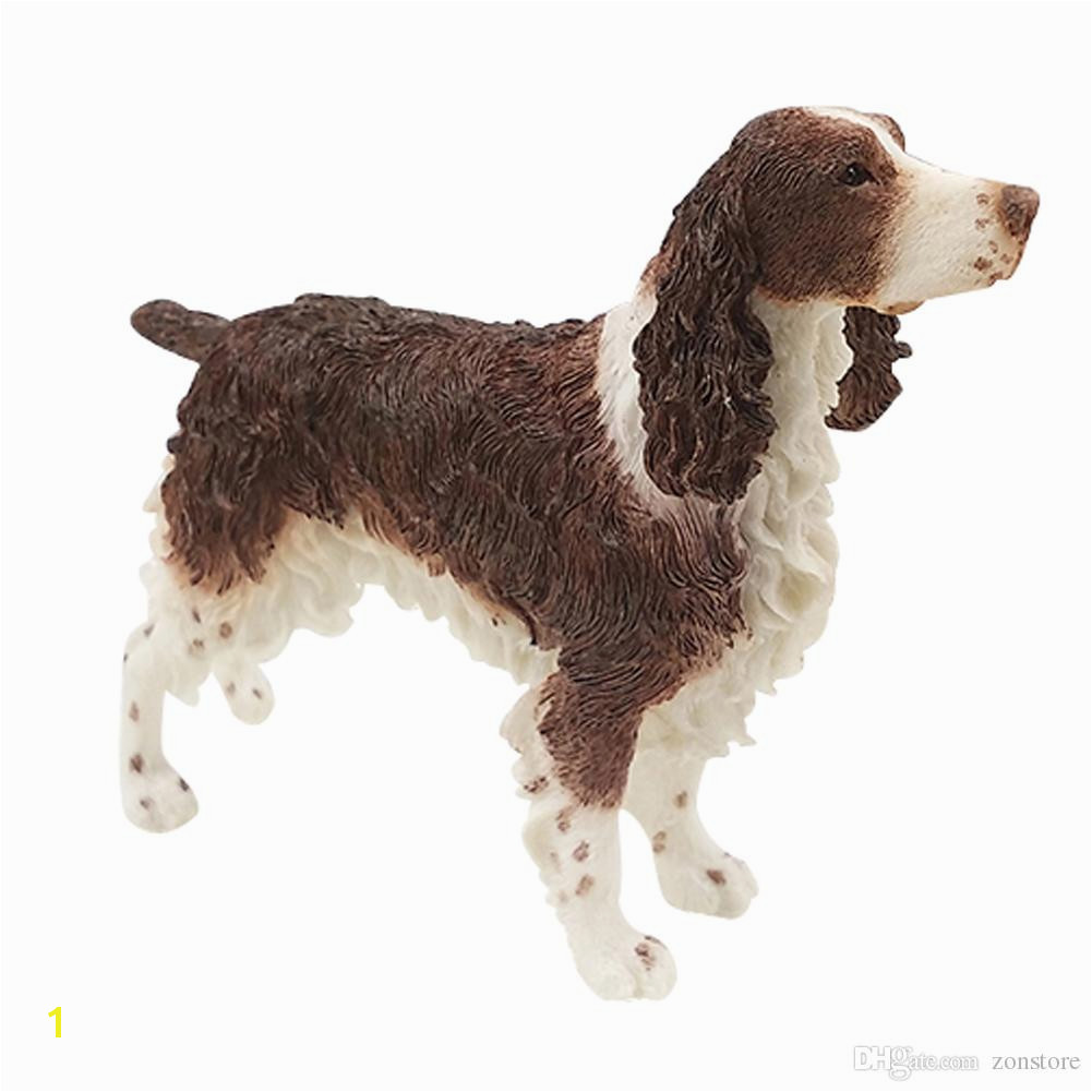 English Springer Spaniel Dog Figurine animal statue resin dog handmade holiday ornaments for home decoration christmas