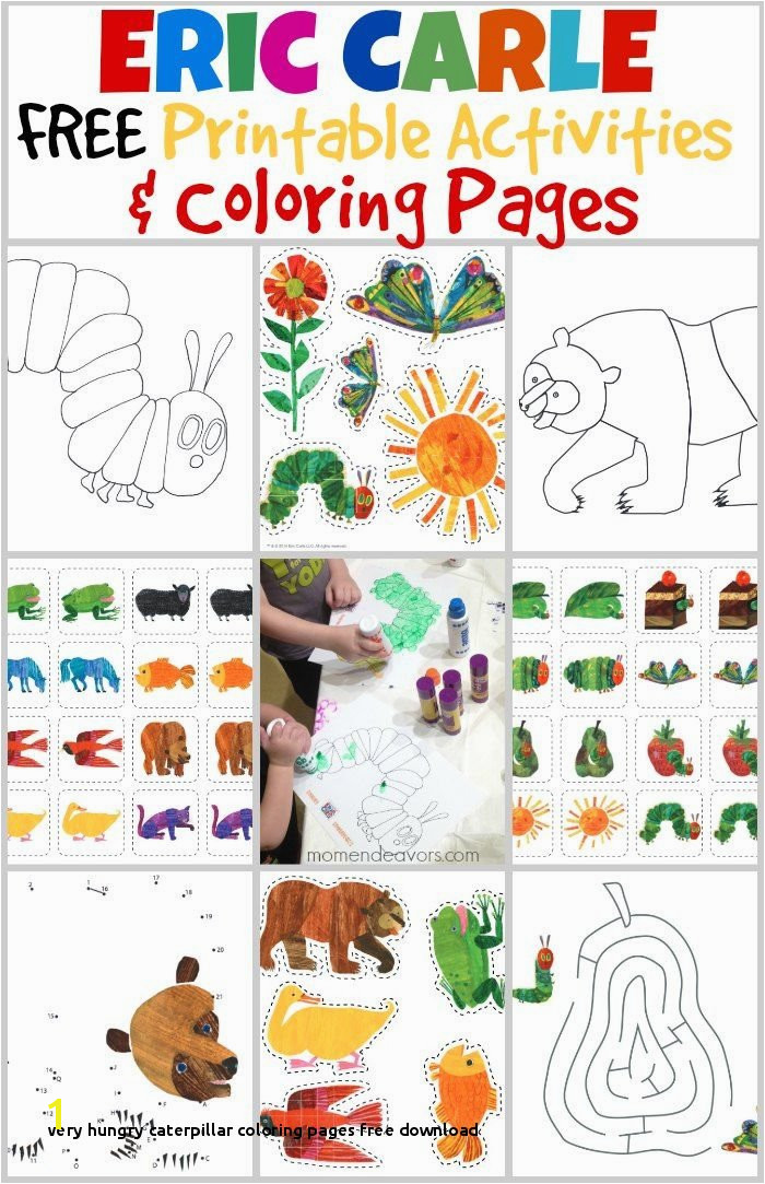 Very Hungry Caterpillar Coloring Pages Free Download 64 Best Preschool Literature Activities Pinterest