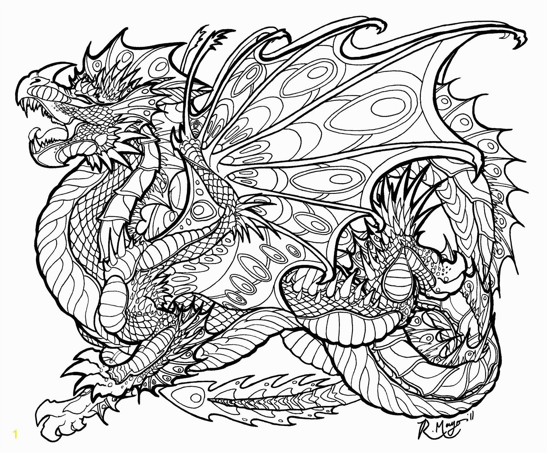 Unsurpassed Evil Dragon Coloring Pages For Adults To Print Kids