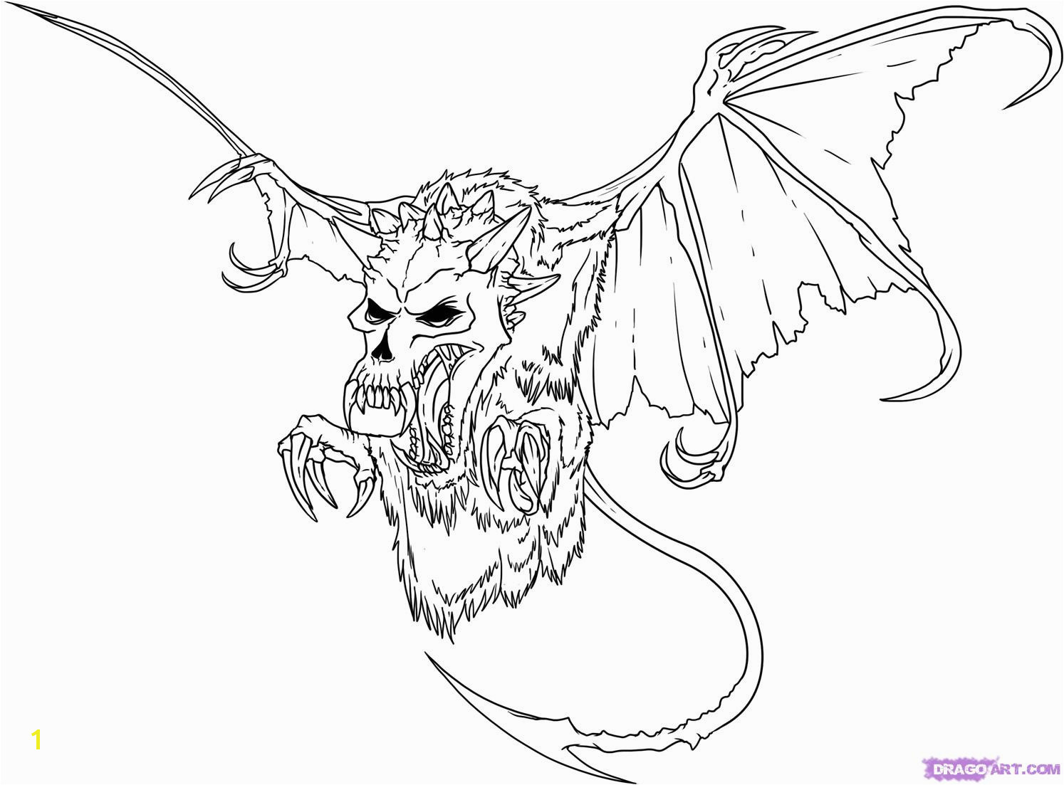 Valuable Evil Dragon Coloring Pages For Adults Drawing At GetDrawings Free Personal