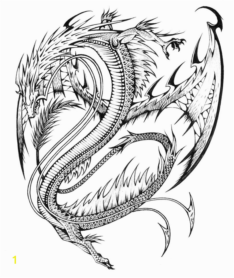 Cool Evil Dragon Coloring Pages For Adults Free Printable
