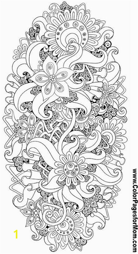 Advanced Coloring Pages Flower Coloring Page 84 o