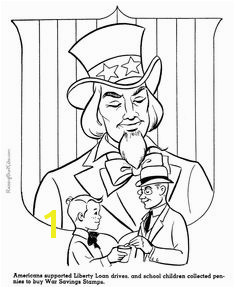 Uncle Sam American history coloring page for kid 088