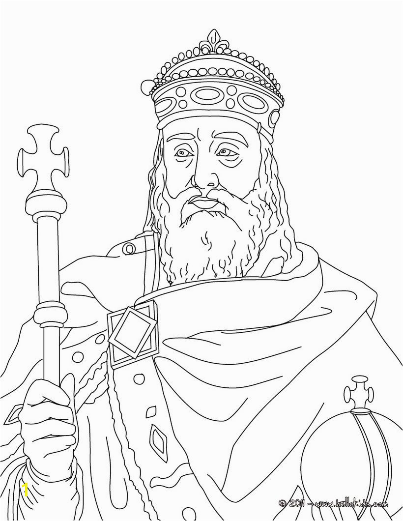 Charlemagne Coloring page CC Cycle 2 week 1 lots of other French kings and queens to color