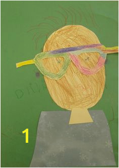 """Campers created beautiful self portraits inspired by the story """"Goggles"""" by Ezra Jack Keats"""