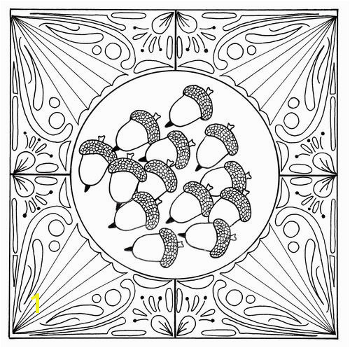 Fall Acorn Mandala