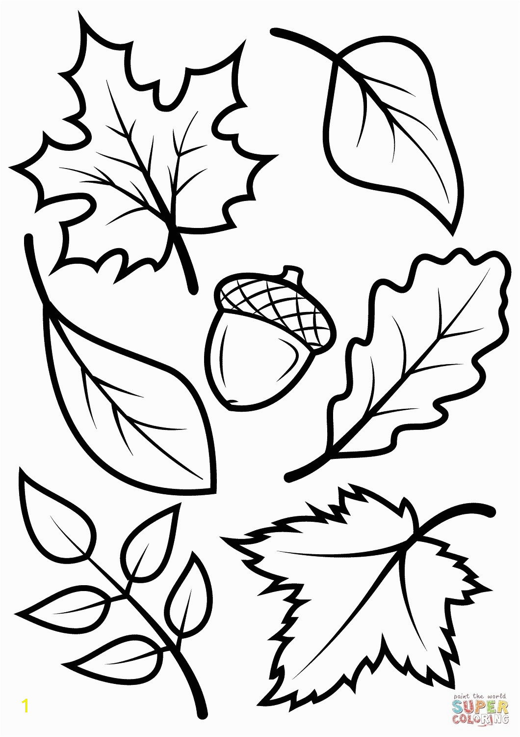 Fall Leaves Coloring Pages for Kindergarten Beautiful Fall Leaves Coloring Pages for Kindergarten
