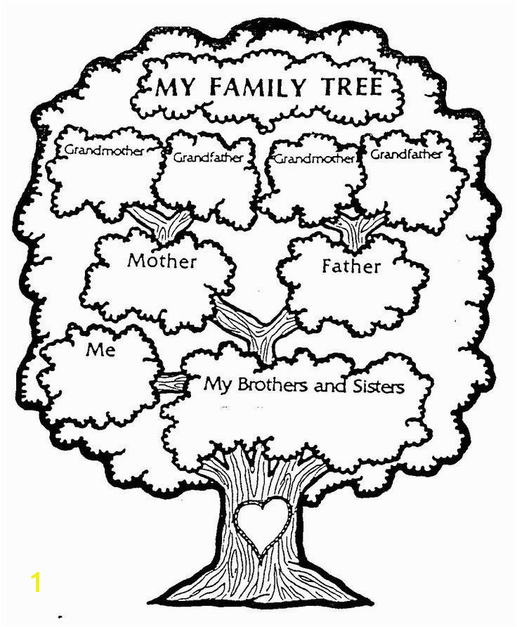 Family Tree Coloring Page Elegant Family Tree Coloring Page for Kids 58 Best Family Trees