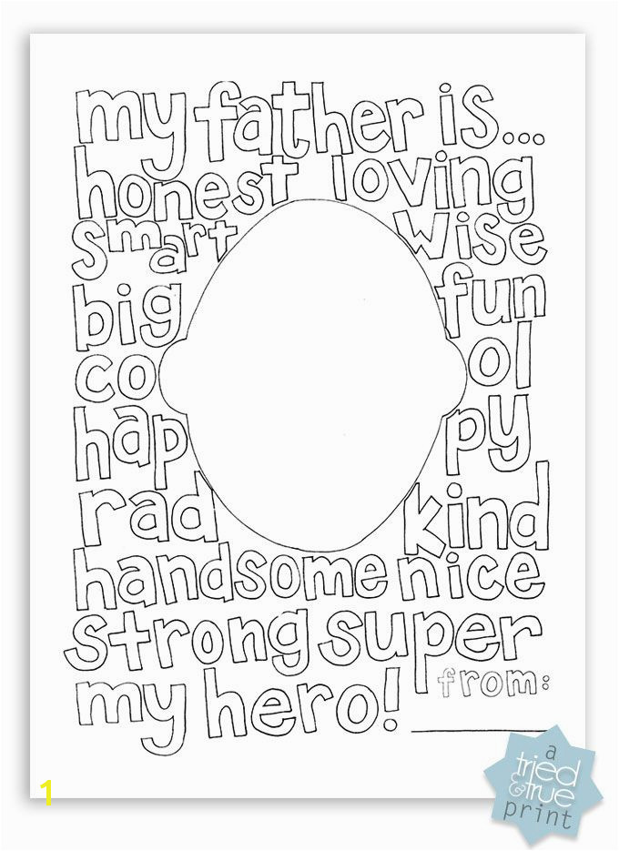 Free Father s Day Coloring Page Let your kids color and draw in face