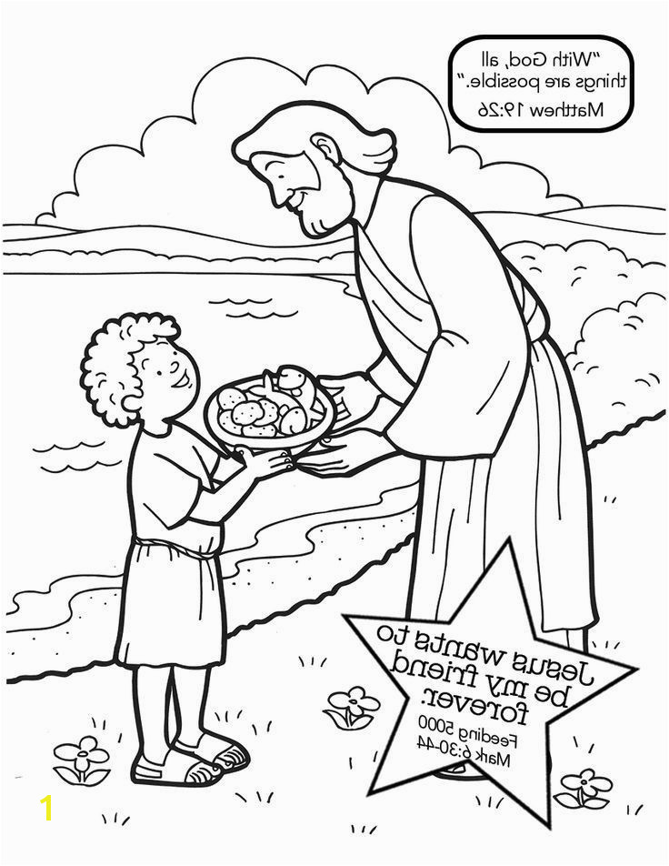 Feeding the Five Thousand Coloring Page Awesome Jesus Feeds 5000 Coloring Pages Jabn Matthew 14