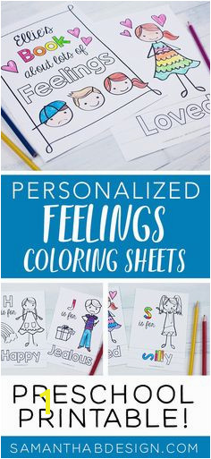 Feelings Coloring Book Emotions Kids Feelings Chart Therapy Printables Preschool Home School Homeschool Poster PDF