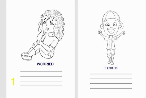 Feelings and Behavior Coloring Pages Feelings Emotions Workbook Parenting Pinterest
