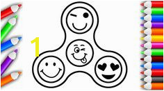 Emoji Fid Spinner Coloring Pages for Kids