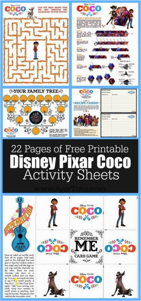 22 Free Disney Pixar s Coco Coloring Pages & Activity Sheets B day Pinterest