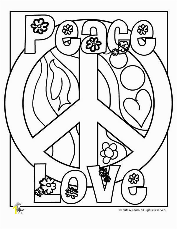 Peace Sign COLORING PAGES free to print for an hour or two of coloring fun Print and stash them away in your girl s rainy day activity bin