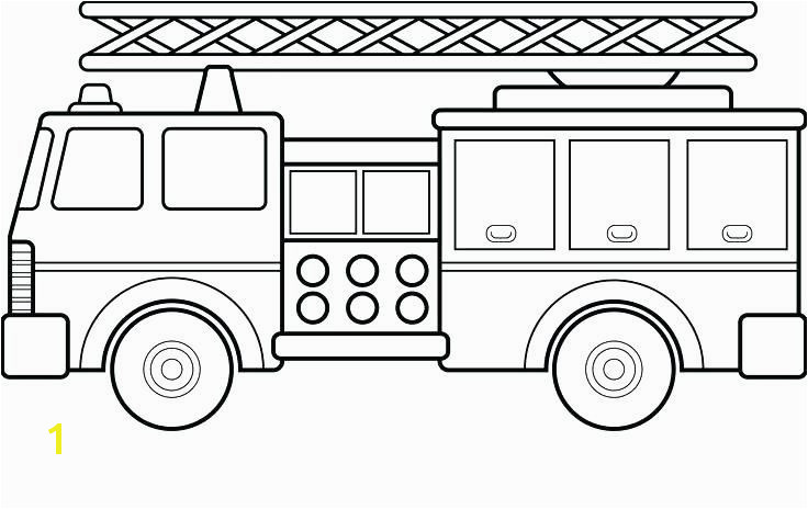 coloring Fire Truck Coloring Sheet
