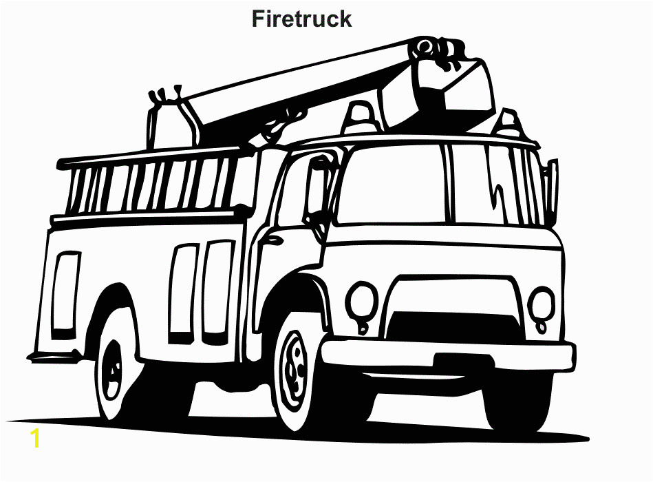 Fire Truck Coloring Pages s GIF Image 949 — 700 pixels