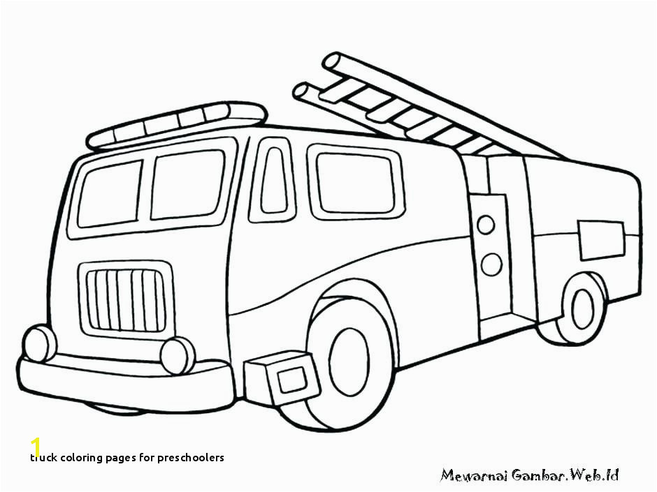 Truck Coloring Pages for Preschoolers Coloring Fire Truck Coloring Pages