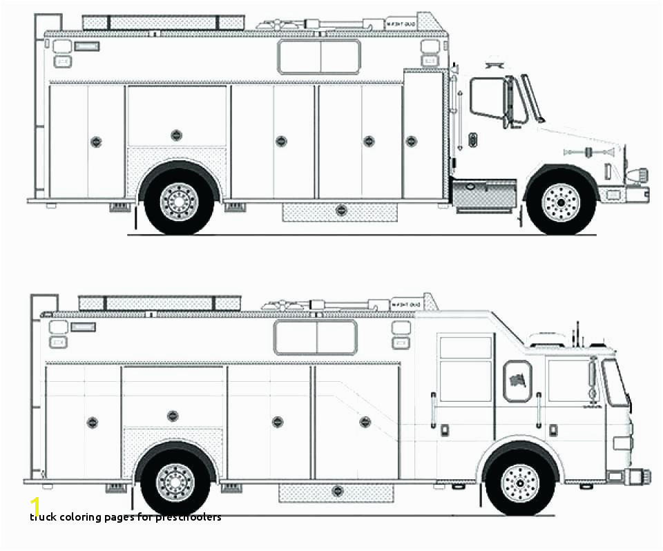 Coloring Fire Trucks Printable Fire Truck Coloring Page